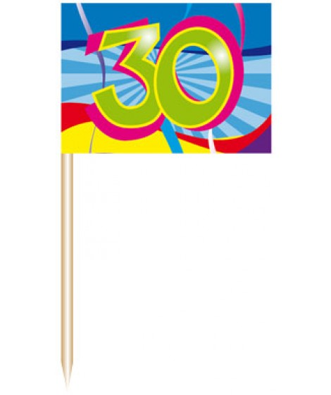 Party-Picker 30.Geburtstag, 50er Pack.
