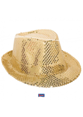 Trilby Hut gold pailletten