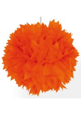 Pompoms Orange. 30 cm